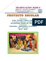 Proyecto Portada Brenda Animacion a La Lectura