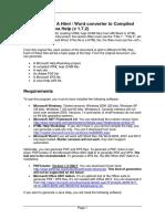 Chm Processor Documentation