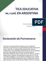 Politica Educativa Actual - Saforcada Mayo 2017