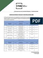 Convocatoria N°003-2017-Ratificación/CNM