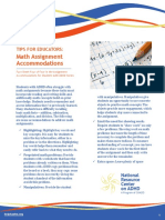 Accommodations for Math Assignments