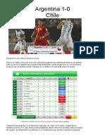 (2017.03.24) SICO Estadísticas Avanzadas de Fútbol. Argentina 1-0 Chile