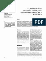 Heinemann, K. Et Al. (1997) Clubs Deportivos en España y Alemania