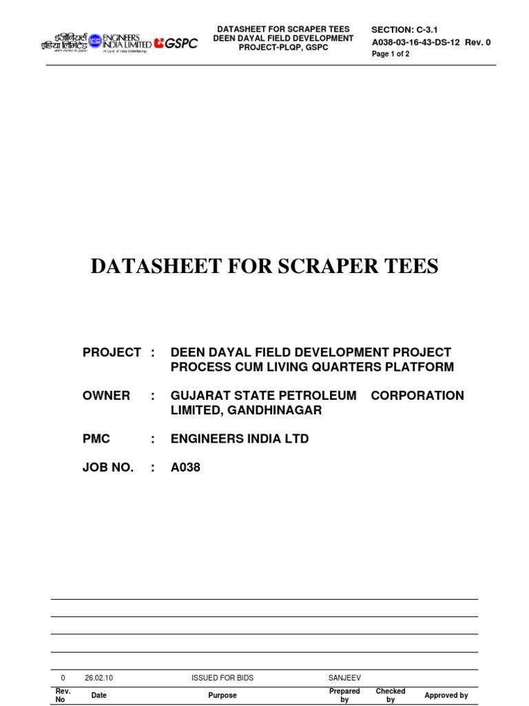 DS - Scrapper Tee   Pipe (Fluid Conveyance)   Engineering