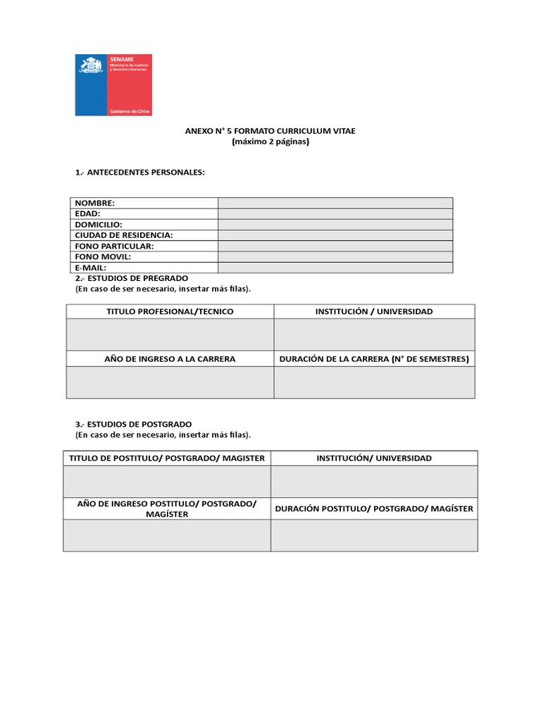 Moderno Formato De Currículum Mnc Friso - Ejemplo De Colección De ...