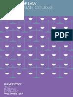 School of Law Postgraduate Brochure 2012