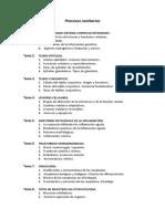 Nuevo Temario de Procesos Sanitarios 2020