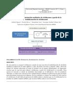 Obtención y caracterización cualitativa de ciclohexeno a partir de la deshidratación de ciclohexanol