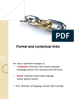 Formal and Contextual Links