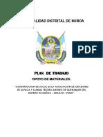 Plan de Trabajo Quenamari