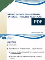 Nuevo Enfasis en Auditoria Interna - Mejores Practicas