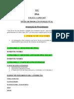 Formulário Produção Intelectual - Coleta 2017 - Completo