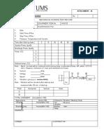 Att III - Log Sheet Mrt