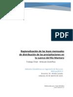 Regionalización de las leyes mensuales de distribución de la precipitación