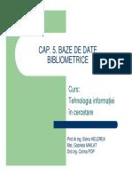 5 Baze de Date Bibliometrice-TIC-2011