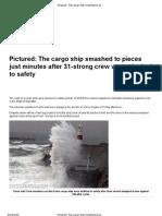 Ship Breaks Into Two
