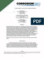 Impacto de Quimicos Campo en Corrosion Refinería