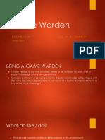 Game Warden A Career interest