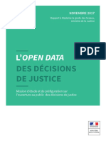 L'open data des décisions de justice