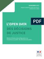 L'open data des décisions de justice