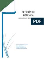 242853027 Informe Sobre El Expediente de Peticion de Herencia Docx