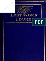 J.D. Buck - The Lost Word Found in the Great Work