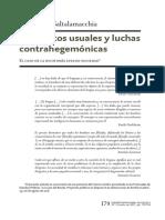 Conceptos usuales y luchas contrahegemónicas