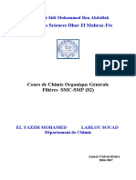 Cours Chimie Organique FSF 2007-2008