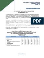 Índice Nacional de Precios Productor Diciembre de 2017