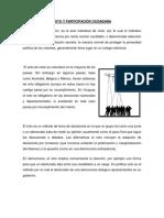 Voto y Participación Ciudadana