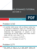 Engineering Dynamics Tutorial Lecture 3