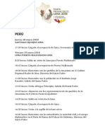 Agenda papa en Perú 2018