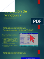 Practica Demostrativa Instalación de Windows 7