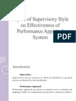 Impact of Supervisory Style