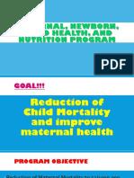 Maternal Newborn Child Health and Nutrition Program