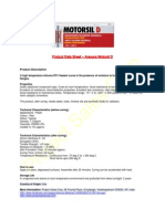 Technical & Safety Data Sheet - Arexons Motorsil D - Original Red