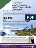 Explore Canada with the Farming Touring including Niagara Falls & Calgary Stampede