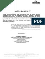 Relatório Social das Atividades 2017 LONA DAS ARTES