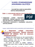 Tema 1.2 Metrologie