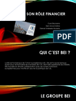 La BEI Et Son Rôle Financier-Finante