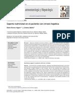 Soporte nutricional en el paciente con cirrosis hepática
