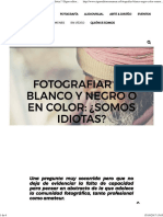Fotoperiodismo Color o Bn