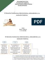 Origen y Evolucion del derecho administrativo contencioso