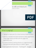 Paging on the x86 architecture