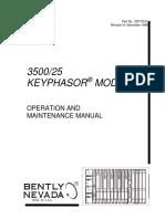 3500 25 Keyphasor Module Operations and Maintenance Manual 1