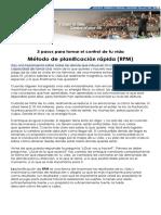Metodo de Planificacion Rapida RPM