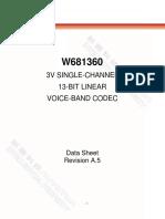 W681360 Datasheet A5