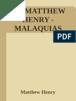 39 - Matthew Henry - Malaquias - Matthew Henry