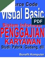 Source Code Visual Basic 6.0 - Desain dan Analisis Sistem Informasi Penggajian Karyawan Studi pada Pabrik