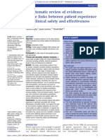 A Systematic Review of Evidence on the Links Between Patient Experience and Clinical Safety and Effectiveness